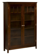 Mission Single Bookcase with Doors
