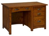 Oakwood Single Pedestal Desk