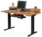 Adona Adjustable Standing Desk with Topper