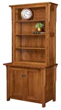 Boston 2 Door Credenza with Hutch