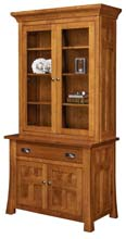 Bridgefort 1 Drawer 2 Door Credenza with Hutch