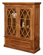 Alexis Bookcase with Full Length Glass Doors