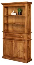 Alexis Bookcase with Bottom Doors