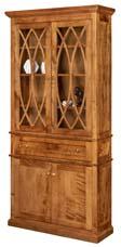 Alexis Bookcase with Top & Bottom Doors