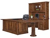 Covington U Shape Desk with Hutch