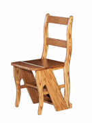 Folding Library Chair to Step Ladder