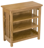 Mission Bookcase/End Table with 2 Adjustable Shelves