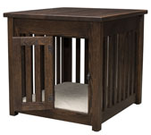 Macy Pet End Table with Wooden Slats and Door