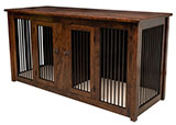 Carson Double Pet Cabinet with Drawers and Aluminum Slats