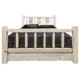 Homestead Bed with Storage and Laser Engraved Design