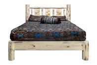 Montana Platform Bed with Laser Engraved Design