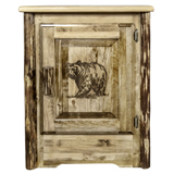 Glacier Country Accent Cabinet with Laser Engraved Design