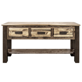 Homestead 3 Drawer Console Table