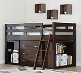 Solana Loft Bed with Accessories