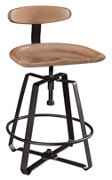 Ironcraft Bar Stool with Back