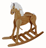 Large Oak Rocking Horse