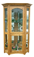 Royal Mission Corner Curio Cabinet