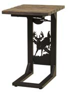 Rustic Sofa Server with Whitetail Deer