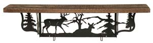 Rustic Shelf with Whitetail Deer