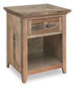 Cottage 1 Drawer Open Nightstand