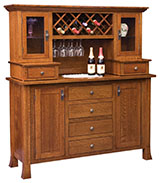 Old Century Wine Buffet with Hutch