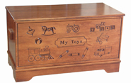 Large Carved Toy Chest