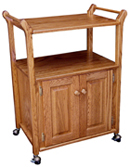Utility Cart with Adjustable Shelf