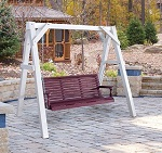 Poly Vinyl White A-Frame Swing Stand