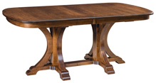 Granite Double Pedestal Table