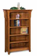 Bridger Mission 4 Shelf 5' Bookcase