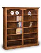 Hoosier Heritage 10 Shelf 6' Double Bookcase