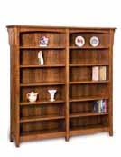 Bridger Mission 10 Shelf 6' Double Bookcase