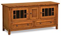 """Centennial 60"""" 3 Door 2 Drawer TV Stand"""