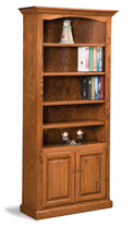 Hoosier Heritage 4 Shelf 2 Door Bookcase