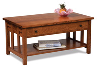Kascade Open Coffee Table with Drawer