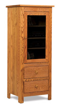 Mission 1 Door 2 Drawer Stereo Cabinet