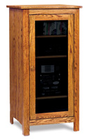 Mission Stereo Cabinet with 4 Shelves