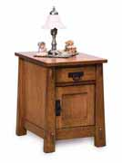 Modesto Enclosed End Table with Drawer & Door