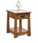 Modesto Open End Table with Drawer