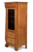 Old Classic Sleigh 1 Door 2 Drawer Stereo Cabinet