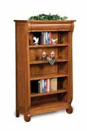 Old Classic Sleigh 4 Shelf 5' Bookcase