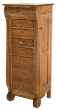 Classic Sleigh Jewelry Armoire