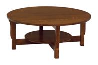 Landmark Round Coffee Table with Shelf