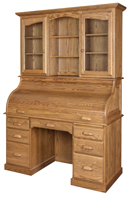 "Heirloom 56"" Rolltop Desk with Hutch"