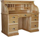 "Heirloom 56"" Rolltop Desk with Flat Sides"