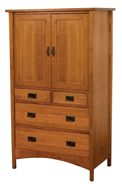 Arts & Crafts Mission Armoire