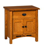 Bel Aire 1 Drawer 2 Door Night Stand