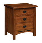 Bel Aire 3 Drawer Night Stand