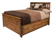 Berwick Slat Panel Bed with Storage & Footboard Slideout