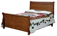 Pierre Bed with Tall Footboard